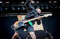 Turnstile paa Pandaemonium. Warmup day. Copenhell 2018 p&aring; Refshale&oslash;en i K&oslash;benhavn. Fire dage med rock, metal og dedikerede fans.<br /> <br /> Copenhagen 2018 on Refshale Island in Copenhagen. Four days of rock, metal and dedicated fans.<br /> <br /> Foto: Jens Panduro<br /> <br /> Copenhagen, Copenhell, musikfestival, festival, musik, rockmusik, metal, hardcore, thrashmetal, punk, punkrock, metalcore, Refshale&oslash;en, Reffen, koncerter, rockkoncerter., Music Festival, Music, Rock Music, Thrash Metal, Refshale Island, Concerts, Rock Concerts.