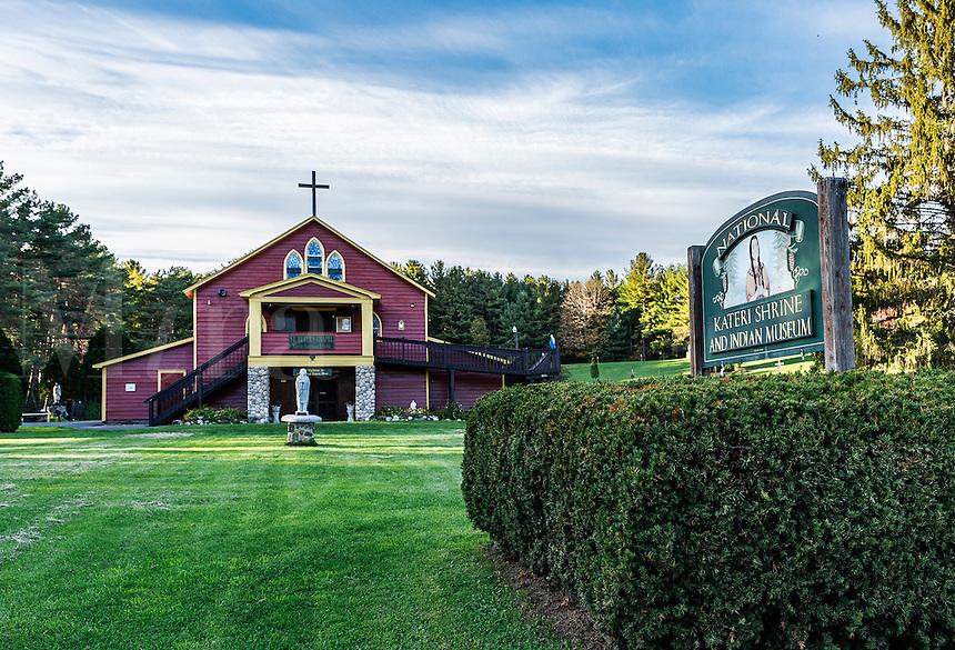 National Shrine of Saint Kateri Tekakwitha, Fonda, New York, USA. Kateri  was the first Native American catholic saint.