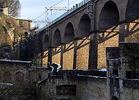 Pulverm&uuml;hlenviadukt, Luxemburg-City, Luxemburg, Europa<br /> Pulverturmviadukt, Luxembourg City, Europe