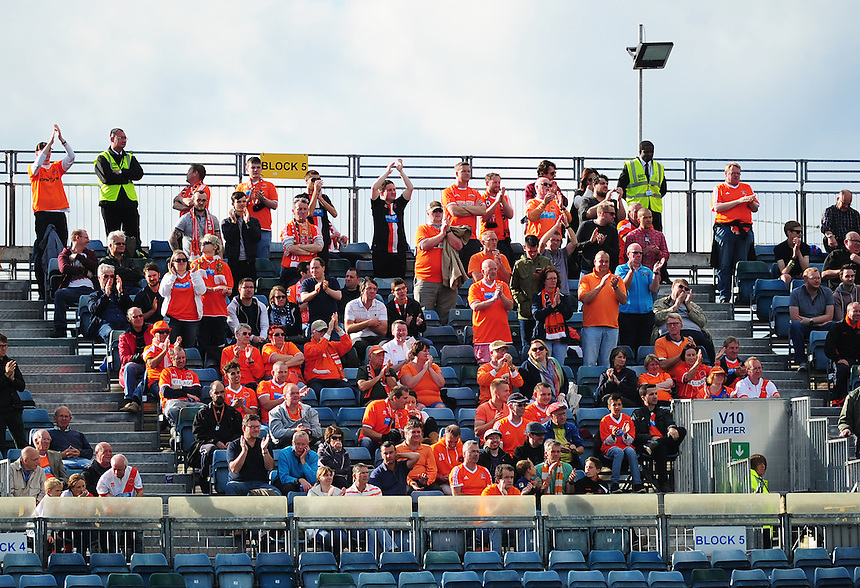 Blackpool fans during todays match  <br /> <br /> Photographer Kevin Barnes/CameraSport<br /> <br /> Football - The Football League Sky Bet League One - Gillingham v Blackpool - Saturday 12th September 2015 - MEMS Priestfield Stadium - Gillingham<br /> <br /> &copy; CameraSport - 43 Linden Ave. Countesthorpe. Leicester. England. LE8 5PG - Tel: +44 (0) 116 277 4147 - admin@camerasport.com - www.camerasport.com