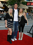 "Actor David Hasselhoff, Taylor Ann Hasselhoff and Hayley Hasselhoff arrive at the Premiere of Columbia Pictures' ""Step Brothers"" at the Mann Village Theater on July 15, 2008 in Los Angeles, California."