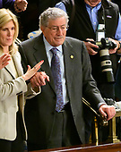 Singer Tony Bennett, a guest of Speaker of the United States House of Representatives Nancy Pelosi (Democrat of California), stands in the gallery as the 116th Congress convenes for its opening session in the US House Chamber of the US Capitol in Washington, DC on Thursday, January 3, 2019.<br /> Credit: Ron Sachs / CNP<br /> (RESTRICTION: NO New York or New Jersey Newspapers or newspapers within a 75 mile radius of New York City)