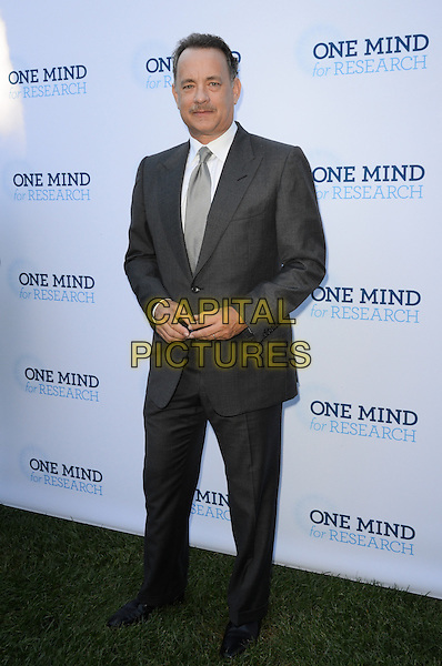 Tom Hanks.Circle Of Hope Dinner And Entertainment Gala held at Beverly Hills Hotel, Beverly Hills, California, USA..September 19th, 2012.full length suit white shirt grey gray tie moustache mustache facial hair  .CAP/ADM/TW.©Tonya Wise/AdMedia/Capital Pictures.