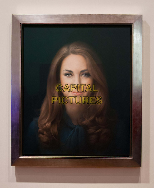 National Portrait Gallery commissions first official painted portrait of The Duchess of Cambridge, where it was unveiled today.  The Duchess was involved in the selection process, from which artist Paul Emsley, the 2007 winner of the Gallery's BP Portrait Award competition, was chosen by Director Sandy Nairne to paint her official portrait.  National Portrait Gallery, St Martin's Place, London, United Kingdom.  .11th January 2013..painting art artwork portrait headshot kate middleton catherine .CAP/BF.©Bob Fidgeon/Capital Pictures.
