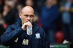Alex Neil manager of Preston North End during the Championship league match at Bramall Lane Stadium, Sheffield. Picture date 28th April, 2018. Picture credit should read: Harry Marshall/Sportimage