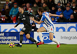 Eden Hazard of Chelsea and Dean Whitehead of Huddersfield Town  during the premier league match at the John Smith's Stadium, Huddersfield. Picture date 12th December 2017. Picture credit should read: Simon Bellis/Sportimage