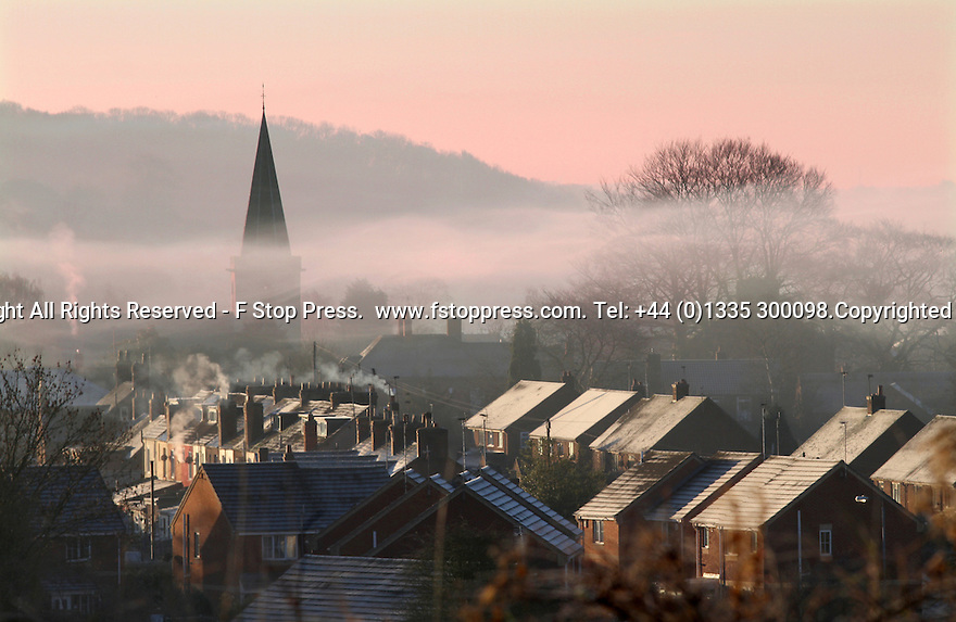 11/12/12 ..After temperatures plummet overnight, sheep hope for some warmth from the first rays of sunshine as dawn breaks over a misty Rocester, near Uttoxeter, staffordshire...All Rights Reserved - F Stop Press.  www.fstoppress.com. Tel: +44 (0)1335 300098.