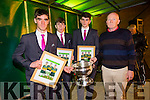The Home Coming -The Kerry Minor Team are Welcomed back to Dingle on Tuesday Pictured Kerry Minors Tom O'Sullivan, Connor Geaney and Mark O'Connor with the Tom Markham Cup