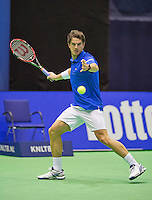 Rotterdam, Netherlands, December 18, 2015,  Topsport Centrum, Lotto NK Tennis, Jesse Huta Galung (NED)<br /> Photo: Tennisimages/Henk Koster