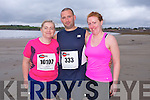 Ailish Hughes, David Hughes and Laura O'Regan at the The Brandon Bay half marathon and 10k run, Ireland's first and only running event entirely run on a beach,  in the Maharees, Castlegregory,  on Saturday