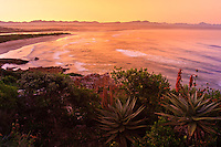 Beach at Plettenburg Bay after Sunset, along the Garden Route of South Africa.