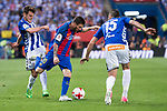 Deportivo Alaves's midfielder Ibai Gomez and defender Theo Hernandez and FC Barcelona's forward Leo Messi during Copa del Rey (King's Cup) Final between Deportivo Alaves and FC Barcelona at Vicente Calderon Stadium in Madrid, May 27, 2017. Spain.<br /> (ALTERPHOTOS/BorjaB.Hojas)