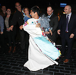Aaron J. Albano with Company.attending the Actors' Equity Broadway Opening Night Gypsy Robe Ceremony for Aaron J. Albano in.'Newsies - The Musical' at the Nederlander Theatre in NewYork City on 3/29/2012