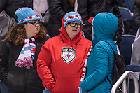 Bridgeview, IL - Saturday March 31, 2018: Chicago Red Stars Fans during a regular season National Women's Soccer League (NWSL) match between the Chicago Red Stars and the Portland Thorns FC at Toyota Park.