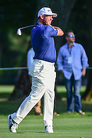 Lee Westwood (ENG) watches his approach shot on 9 during round 1 of the World Golf Championships, Mexico, Club De Golf Chapultepec, Mexico City, Mexico. 3/2/2017.<br />