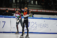 SHORT TRACK: TORINO: 14-01-2017, Palavela, ISU European Short Track Speed Skating Championships, Final A 500m Men, European Champion Sjinkie Knegt (NED), ©photo Martin de Jong