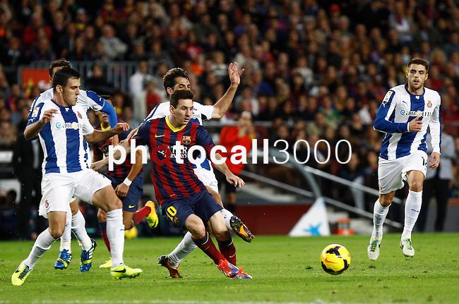 Spain.Barcelona. 01.11.2013<br /> Partido de liga BBVA entre Fc Barcelona- RCD Espanyol<br /> Messi