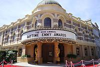 BURBANK - APR 26: Daytime Emmy Awards sign at the 42nd Daytime Emmy Awards Gala at Warner Bros. Studio on April 26, 2015 in Burbank, California