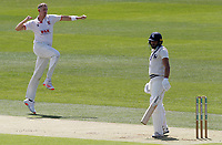 Matt Quinn of Essex celebrates taking the wicket of Jack Leaning during Kent CCC vs Essex CCC, Friendly Match Cricket at The Spitfire Ground on 27th July 2020