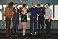 Jason Momoa, Ezra Miller, Gal Gadot, Ben Affleck, Ray Fisher, Henry Cavill<br /> 'Justice League' film photocall in London, England on November 4t, 2017.<br /> CAP/PL<br /> &copy;Phil Loftus/Capital Pictures