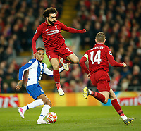 Mohamed Salah of Liverpool in action during the UEFA Champions League Quarter Final first leg match between Liverpool and Porto at Anfield on April 9th 2019 in Liverpool, England. (Photo by Daniel Chesterton/phcimages.com)<br /> Foto PHC/Insidefoto <br /> ITALY ONLY