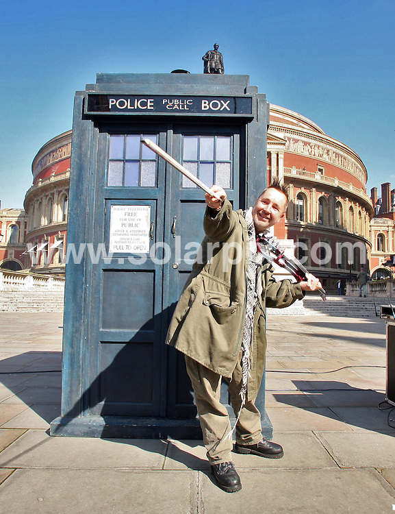 **ALL ROUND PICTURES FROM SOLARPIX.COM**.**NO UK NEWSPAPER PUBLICATION **UK MAGAZINE & SUPPLEMENT PUBLICATION ONLY** AND NO PUBLICATION IN FRANCE, SCANDINAVIA, AUSTRALIA AND GERMANY** .Doctor Who is to feature in this year's Proms, alongside Nigel Kennedy and maypole dancing. Daleks will roam the Royal Albert Hall at the Doctor Who Prom in July, which will celebrate music from the popular BBC show. Kennedy, 51, will return to the Proms for the first time in 21 years to perform Elgar's violin concerto. 10th April 2008..JOB REF: 6120 SFE       DATE: 10_04_2008.**MUST CREDIT SOLARPIX.COM OR DOUBLE FEE WILL BE CHARGED* *UNDER NO CIRCUMSTANCES IS THIS IMAGE TO BE REPRODUCED FOR ANY ONLINE EDITION WITHOUT PRIOR PERMISSION*