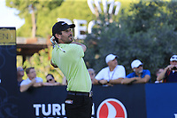 Thoms Aiken (RSA) tees off the 11th tee during Sunday's Final Round of the 2018 Turkish Airlines Open hosted by Regnum Carya Golf &amp; Spa Resort, Antalya, Turkey. 4th November 2018.<br /> Picture: Eoin Clarke | Golffile<br /> <br /> <br /> All photos usage must carry mandatory copyright credit (&copy; Golffile | Eoin Clarke)