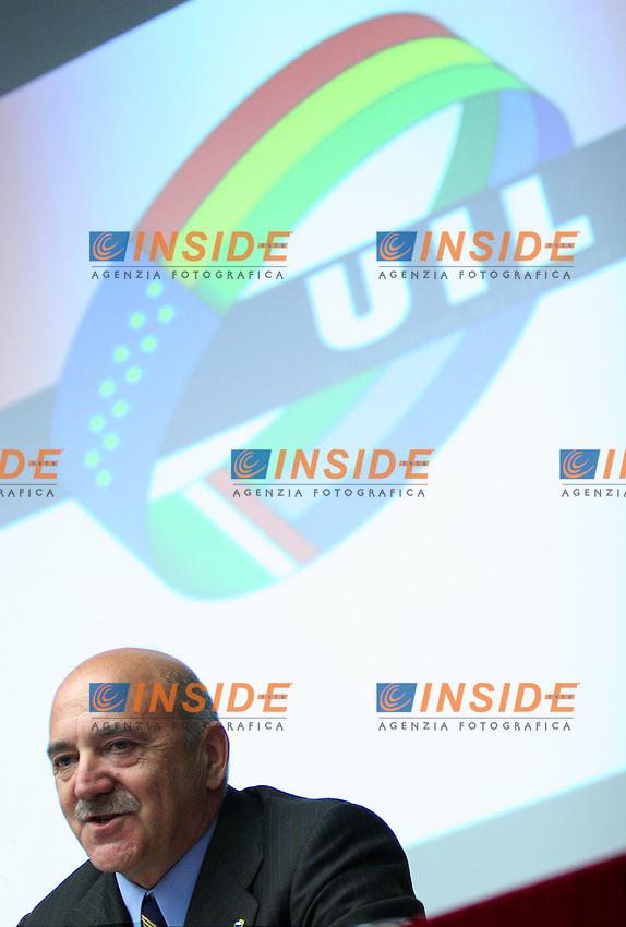 Roma 09/10/06 Convegno dal titolo &quot;le riforme, una rivoluzione necessaria&quot;. Nella foto Luigi Angeletti, Segretario della UIL<br /> Photo Samantha Zucchi inside