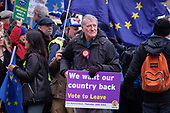 We Want Our Country Back.  Pro Brexit protesters demonstrate outside the Houses of Parliament on the day MPs voted decisively to reject Theresa May's withdrawal deal with the EU.  Westminster, London.
