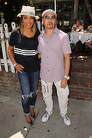 Arthel Neville, Taku Hirano<br /> having lunch at The Ivy, Los Angeles, CA 07-28-14<br /> David Edwards/Dailyceleb.com 818-249-4998