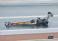 Apr. 7, 2013; Las Vegas, NV, USA: NHRA top fuel dragster driver Steve Faria during the Summitracing.com Nationals at the Strip at Las Vegas Motor Speedway. Mandatory Credit: Mark J. Rebilas-