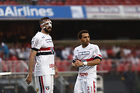 SÃO PAULO, SP, 18.03.2017 - SÃO PAULO-ITUANO- Lucas Pratto e Wellington Nem do São Paulo Futebol Clube durante partida contra o Ituano válida pela 9ª rodada do Campeonato Paulista 2017, no Estadio Cicero Pompeu de Toledo,  na tarde desta sábado, 18.(Foto: Adriana Spaca/Brazil Photo Press)