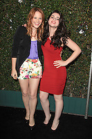 Katie Leclerc and Vanessa Marano at the ABC Family West Coast Upfronts party at The Sayers Club on May 1, 2012 in Hollywood, California. © mpi26/MediaPunch Inc.