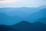 Sunrise, Landscape, Mediterranean Habitat for Iberian Lynx, Sierra de Andujar Natural Park, Sierra Morena, Andalucia, Spain