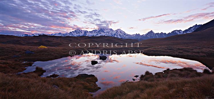 The Copland Mountain Range. Westland Region. New Zealand.