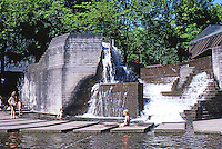 Portland: Lovejoy Fountain by Halprin & Assoc.  Photo '86.