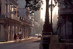 Havana, Cuba, The extraordinarily lavish rococo architecture of Havana Centro caught in sunrise light.