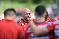 Willi Heinz of Gloucester Rugby speaks with his team-mates after the match. Gallagher Premiership Semi Final, between Saracens and Gloucester Rugby on May 25, 2019 at Allianz Park in London, England. Photo by: Patrick Khachfe / JMP