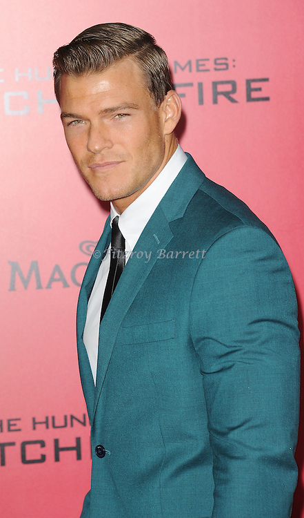 Alan Ritchson arriving to 'The Hunger Game Catching Fire Premiere', Los Angeles, Ca. November 18, 2013.