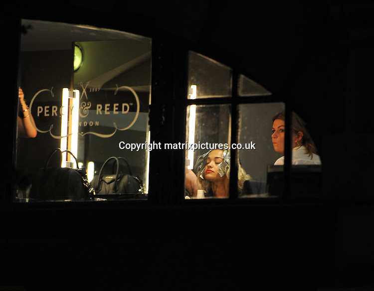 NON EXCLUSIVE PICTURE: PALACE LEE / MATRIXPICTURES.CO.UK<br /> PLEASE CREDIT ALL USES<br /> <br /> WORLD RIGHTS<br /> <br /> Albanian-British singer Rita Ora is pictured as she visits the Percy &amp; Reed Salon in Great Portland Street, London.<br /> <br /> AUGUST 8th 2013<br /> <br /> REF: LTN 135416
