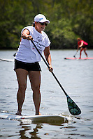 South Florida stylish ladies raise funds for Special Olympics of Collier County during the second annual Stand Up Paddleboard Luau Races held at Bayfront Marketplace and Marina in Naples on Saturday, May 21, 2011. Photo by Debi Pittman Wilkey