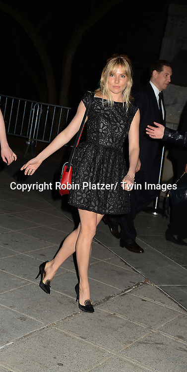 Sienna Miller attend the Vanity Fair Party for the 2013 Tribeca Film Festival on April 16, 2013 at State Suprme Courthouse in New York City.