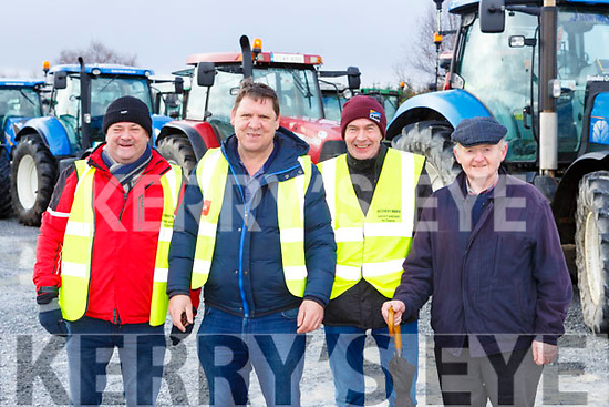 Jimmy Roche. Denny Lucey, Liam Warren and John Joe Murphy at the Barradubh Vintage Tractor run on Sunday