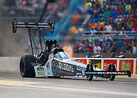 Jul 8, 2017; Joliet, IL, USA; NHRA top fuel driver Shawn Langdon during qualifying for the Route 66 Nationals at Route 66 Raceway. Mandatory Credit: Mark J. Rebilas-USA TODAY Sports