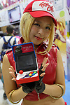A booth assistant poses for a photograph during the Comic Market 94 (Comiket) event at Tokyo Big Sight on August 11, 2018, Tokyo, Japan. The annual event that began in 1975 focuses on manga, anime, game and cosplay. Organizers expect more than 500,000 visitors to attend the 3-day event. (Photo by Rodrigo Reyes Marin/AFLO)