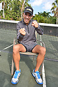 BOCA RATON, FL - NOVEMBER 22: Hélio Castroneves poses for portrait during the 30TH ANNUAL Chris Evert Pro-Celebrity Tennis Classic presented by Chase Private Client at Boca Raton Resort & Club on November 22, 2019 in Boca Raton, Florida.   ( Photo by Johnny Louis / jlnphotography.com )