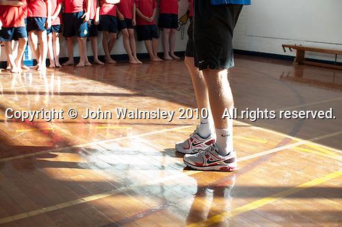 Street Dance class for teenage boys, state secondary Roman Catholic school.