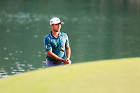 Xander Schauffele (USA) on the 18th green during the 3rd round at the WGC HSBC Champions 2018, Sheshan Golf CLub, Shanghai, China. 27/10/2018.<br /> Picture Fran Caffrey / Golffile.ie<br /> <br /> All photo usage must carry mandatory copyright credit (&copy; Golffile | Fran Caffrey)