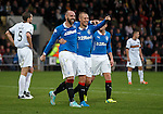 Kris Boyd celebrates his goal with Kenny Miller
