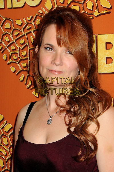 LEA THOMPSON.HBO's 2010 67th Golden Globe Awards Post Party held at the Beverly Hilton Hotel, Beverly Hills, California, USA. .January 17th, 2009 .globes headshot portrait necklace red black sheer.CAP/ADM/BP.©Byron Purvis/Admedia/Capital Pictures